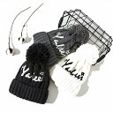 ニット帽 レディース ボンボン 裏起毛 暖か ふわふわ 可愛い 大きい 大きめ 帽子 おしゃれ