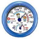 【クレセル】温湿度計 熱中症・インフル ブルー TR−103B ※お取り寄せ商品【RCP】【02P03Dec16】