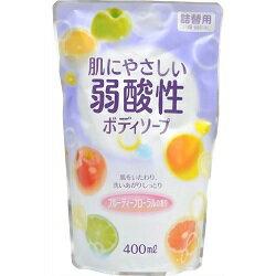 エオリア 弱酸性ボディソープ フルーティフローラルの香り 詰替用 400ml