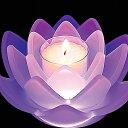 【あす楽対応】【蓮のキャンドル】癒しの世界「ロータスグレイス(フロスト)」1個入りLEDコースターセ