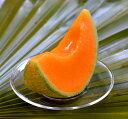 カメヤマ好物ローソク「完熟メロンキャンドル」メロンの香り付き