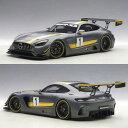 迷你車 - オートアート 1/18 メルセデス AMG GT3 プレゼンテーションカー グレー (イエローストライプ)