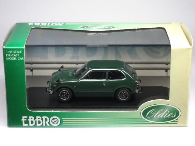 ※極少規模箱腐食有・箱開封痕有※【絶版品】 エブロ 1/43 ホンダ シビック RS 1974 グリーン