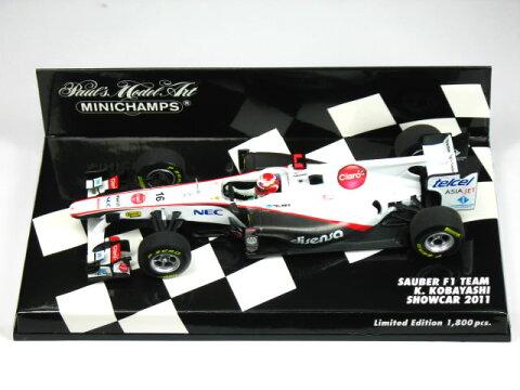 ミニチャンプス 1/43 ザウバー F1チーム ショーカー 小林可夢偉 2011
