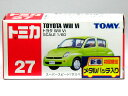 【旧番】トミカ027 トヨタ Will Vi グリーン ★初回限定 メタルバッチ入り★