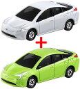 【トミカ050】トヨタ プリウス (通常版 NEWシール 箱+初回特別仕様 箱) 2台セット