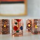 フランクロイドライト アートグラス LEDキャンドル LEDキャンドル ロウソク 蝋燭 キャンドル LEDライト クリスマス 10P03Dec16