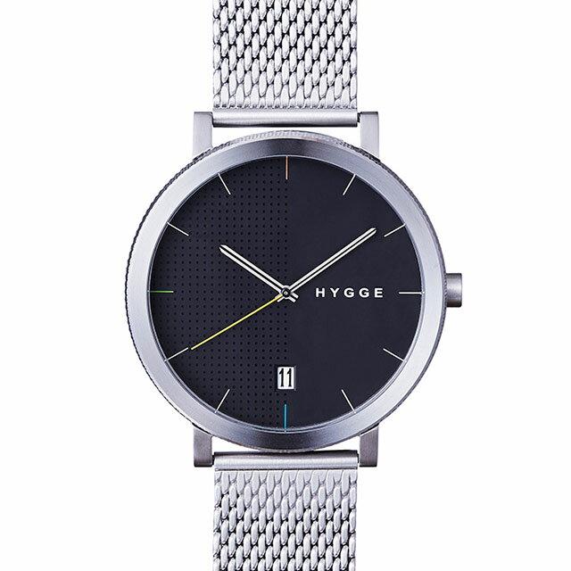 ヒュッゲ 2203 MESH/BLACK DIAL メッシュ ブラックダイアル HGE020061 腕時計 ユニセックス HYGGE 北欧 時計 卒業 入学 就職祝 \\ 10%OFFクーポン配布中 //