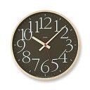 【送料無料】レムノス AY clock RC電波時計 / ブラウンAY14-10 BW 掛け時計 AY14-10BW ハロウィン