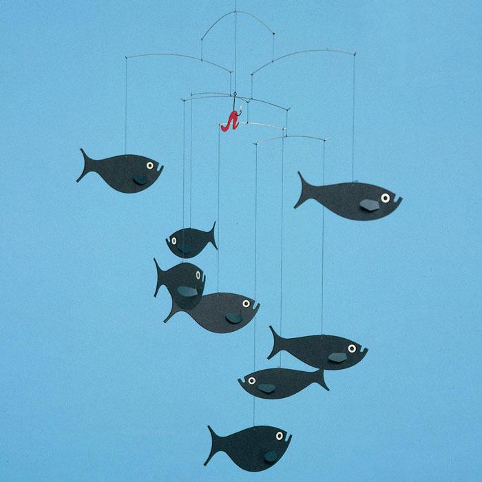 フレンステッドモビールShoalofFish魚30バレンタインおしゃれかわいい北欧フレンステッドモビ