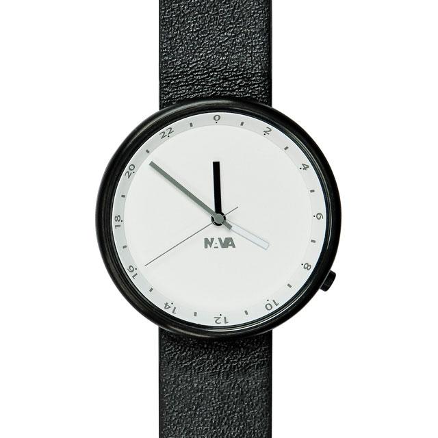 ナバデザイン Wherever Clouds O450 ブラック 腕時計 ユニセックス NAVA ナヴァデザイン NAVA 時計 卒業 入学 就職祝 \\ 10%OFFクーポン配布中 //