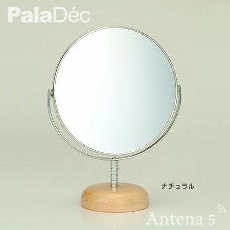 《全2色》PalaDec Acoustic(S) スタンドミラー(6インチ)  【パラデック アコースティック 卓上ミラー 手鏡 メイク デザイン雑貨】