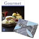 送料無料|<風呂敷包み>グルメカタログギフト Gourmet<GF+風呂敷(こはれ ねんりん ブルー