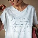 期間限定送料無料!あの人気トップスに新作登場。『英字オリジナルロゴTシャツでお洒落度up。』3月16日20時〜発売!ドルマンの形が愛されコーデの秘訣。英字プリン...