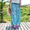 生命力感じるレトロなお花。『この色がチカラをくれる、可愛いロングスカートなら。』6月8日20時?発売