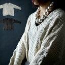 期間限定送料無料!ゆるざっくり、背伸びせずに手に入れる雰囲気。『ニットの魔法で大人女子の表情まで可愛く。』11月12日10時〜再販!ニットなしでは冬のお洒落は語れない。ケーブル編みVネックニット##v10