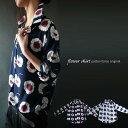目に鮮やかなレトロ花。『シャツを超えるシャツ。』1月19日20時〜発売!ココロ捉えるその色あい。レトロ花柄シャツd3