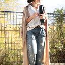 女度上がる、とろみ素材のトレンチ風羽織り。『さらっと身にまとえば大人女子の心がときめく。』1月26日20時〜発売!求めてたのはこの抜け感。トレンチ風ロングコート...