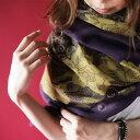 期間限定送料無料!アンティークな空気感漂う洗練されたストール。『大人シックな華柄を纏う。』4月27日20時?発売!巻き方次第で表情を変える。otona花柄ストールi9