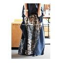 スカート極上のバランス感とこなれた柄使い。柄切替変形スカート・5月19日20時〜再販。##