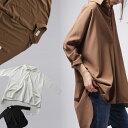 サイドのタックでドレープ美しい洗練スタイルを。タックデザインシャツ・3月9日20時~再販。「G」##×メール便不可!