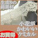 【お買得】 4cm幅 綿素材の生成り小花ケミカルレース(1m)