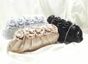 Satin pleats party bag #b7649 of the silk which email service free shipping [party bag party back, wedding ceremony, four circle party bag party back, entrance ceremony, graduation ceremony, invite, wedding] elegant Rose stuck to as for five