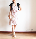 Party dress [smtb-KD] #an903 where free shipping ★ wedding ceremony dress party bag four circle bolero party dress celebrity one piece S,M,L,7 9-11 correspondence, pleats are clean