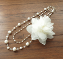 Email service free shipping! [pearl  -  pearl accessories wedding ceremony pearl necklace four circle party necklace party party] design necklace #ne333 of the pearl