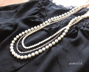 Email service free shipping! Design necklace #ne-111 of the pearl