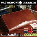 【牛革・長財布・メンズ】新作 VACHERON HEARTS ヴァセロンハーツ Conceria Capital ラウンドウォレット VH-1011