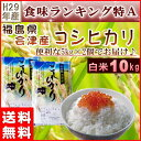 コシヒカリ 10kg(5kg×2袋) 米 福島県産 お米 29年産 会津産 送料無料 特A 『29年