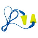 耳栓 3M プッシュインスひもあり(1組)318-4001(遮音値/NRR:31dB)(防音/遮音/騒音対策/粉塵対策)