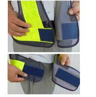 安全チョッキ(テープ幅70mm)安全ベスト紺色メッシュ/白銀色テープV70-BW