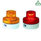 【LED回転/点滅灯】 乾電池式 マグネットタイプで設置方向を選びません。
