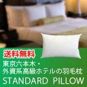 高級枕・ホテル枕東京六本木ミッドタウン・外資系高級ホテルの羽毛枕(50×65)スタンダードピロー