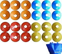 マーカーコーン ディスク 24枚セット全4色×各6枚 収納バ...