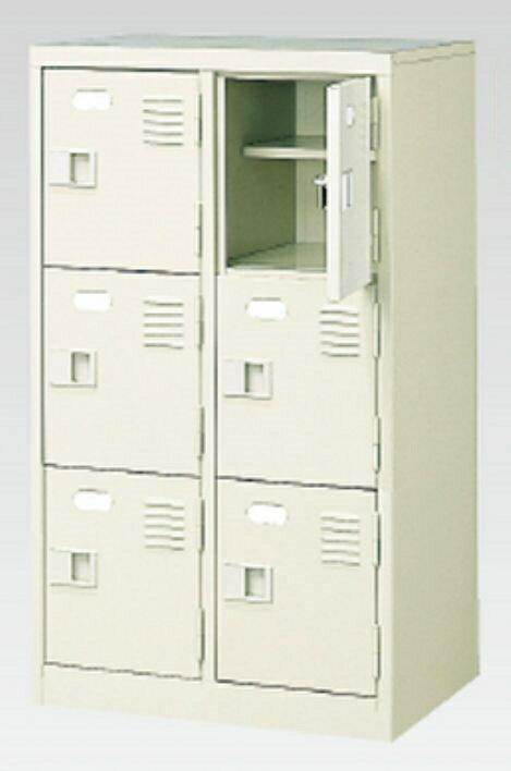 6人用シューズボックス(中棚付き)(鍵付き)(3段×2列) 【地域限定送料無料】/MI-BST2-3HK