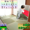 【感謝祭】【つかまり立ちの 赤ちゃん に】 転倒対策 置き畳 ユニット畳 【ちょこんと】 畳 イ草