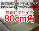 置き畳正方形 赤ちゃん安心 サイズオーダー フローリング畳 ユニット畳【ちょこんと】 80cm角 琉球畳 ユニット畳 国産 日本製 防音 4枚から送料無料