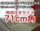 置き畳 赤ちゃん安心 サイズオーダー フローリング畳マット半畳 71cm角