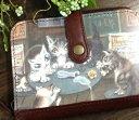 【送料無料】アート2つ折り財布 裏街のカフェ わちふぃーるど ダヤン 本革 財布 猫雑貨02P09Jul16