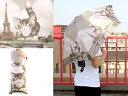 【送料無料】ダヤン アート3ツ折傘 パリ猫グレイッシュ ダヤン ダヤングッズ 猫雑貨 わちふぃーるど 02P18Jun16