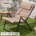 イス チェア 椅子 屋外 家具 ファニチャー リクライニング ガーデン タカショー / キャリー リクライニング シングルローソファ 2脚組 /B
