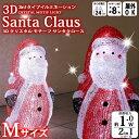 ポイント10倍/3Dクリスタルモチーフ サンタクロース M[LIT-3D04L] 【LEDイルミネーション】【クリスマス 用品】【クリスマス装飾】【10P03D...