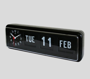 TWEMCO company clock (BQ-38) black table clock 】