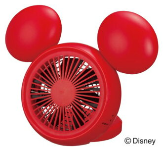 Doshisha 3 power supply response Disney compact desk fan (red) NPM-1084U-RD fan power fs3gm
