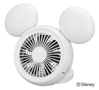 ドウシシャ 3 disney compact desk electric fan (white) NPM-1084U-WH style plane economy in power consumption Mickey fs3gm for power supply