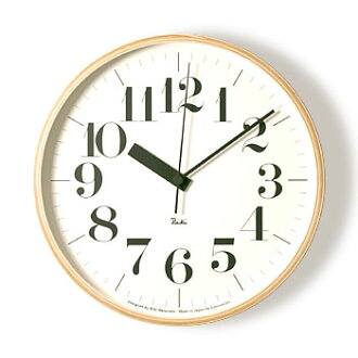 Wall-good design award-winning radio clock Riki リキクロック M size 0711 (radio clock) (bold type) and stylish, wooden wall clock]
