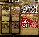バッグタグ〔TIME WORKS〕 madeinUSA BAGTAGS ラゲッジタグ 海外旅行 ロストバゲージ対策 木製